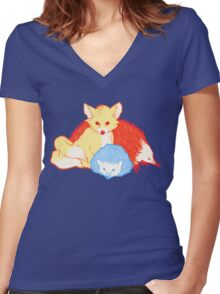 Fast Friends Women's Fitted V-Neck T-Shirt