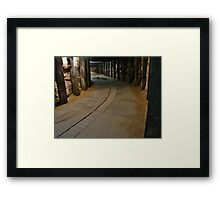 Dog Leg Tunnel, Cockatoo Island. Framed Print