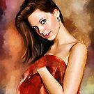 Lady in Red by ellenspaintings