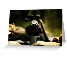 M1919 Browning Machine Gun Greeting Card