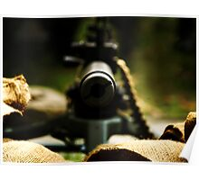 M1919 Browning Machine Gun Poster