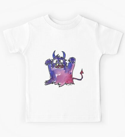 Funny Cartoon Monstar Monster 002 Kids Tee