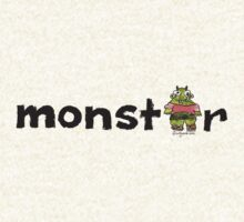 Monster Text Cartoon 001 by Lillyarts