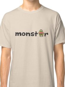 Monster Text Cartoon 001 Classic T-Shirt