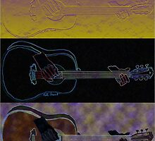 Guitar Trilogy- Three abstract guitars  by kreativekate