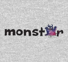 Monster Text Cartoon 002 Kids Tee