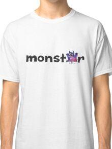 Monster Text Cartoon 002 Classic T-Shirt