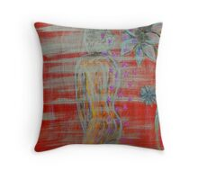 Showered In Flowers Throw Pillow