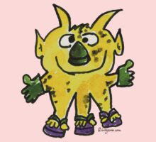Funny Cartoon Monstar 003 Kids Tee