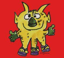 Funny Cartoon Monstar 003 Baby Tee