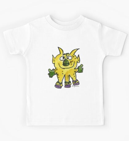 Funny Cartoon Monstar Monster 003 Kids Tee