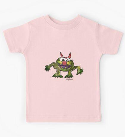 Funny Cartoon Monstar Monster 006 Kids Tee