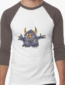 Funny Cartoon Monstar 008 Men's Baseball ¾ T-Shirt