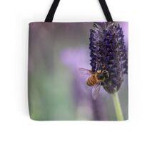 Bee on Lavender Tote Bag