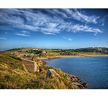 Braye and the Arsenal from Roselle - Alderrney Photographic Print