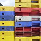 Stacked fish boxes by Tanya Housham