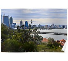 perth our city from kings park Poster