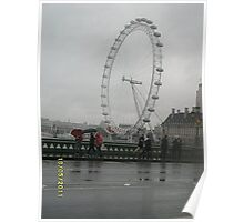 UK/London Eye -(180511b)- digital photo Poster