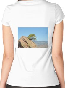 Shrub and Rock at Canon City  Women's Fitted Scoop T-Shirt