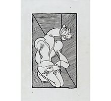 trapped figure Photographic Print