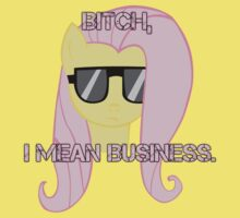 FlutterShy means business. by LcPsycho