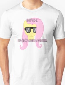 FlutterShy means business. T-Shirt