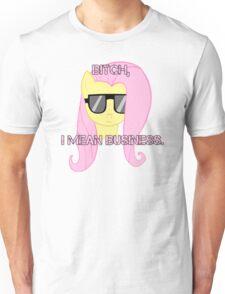 FlutterShy means business. Unisex T-Shirt