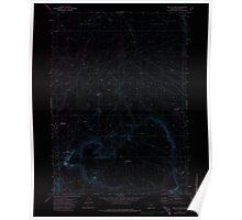 USGS Topo Map Oregon Fish Fin Rim 279869 1971 24000 Inverted Poster