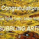 Feature banner - Bubbling Artists by su2anne
