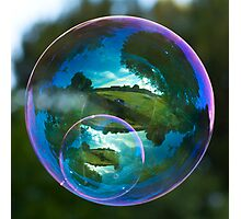 Twin Bubble Landscapes Photographic Print