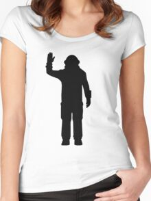 Space Engineers Icon/Silhouette Women's Fitted Scoop T-Shirt