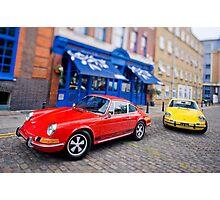Two 911s in Town Photographic Print
