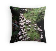 Fungi Forest Throw Pillow