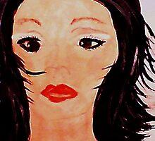 A portrait of a friend, watercolor by Anna  Lewis