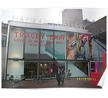 Hayward Gallery/Tracey Emin Exhibition -(180511a)- digital photo Poster