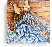 Jesus & The Miraculous Catch Of Fish (153 fish) Metal Print