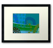 Blue Eco Framed Print
