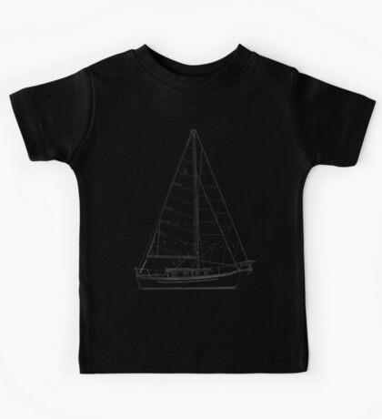 Dana 24 sail plan T shirt (printed on BACK) Kids Clothes