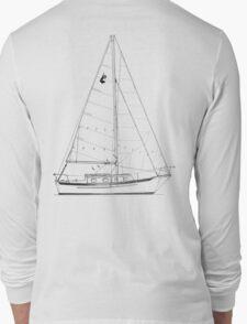 Dana 24 sail plan T shirt (printed on BACK) Long Sleeve T-Shirt