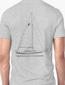 Dana 24 sail plan T shirt (printed on BACK) T-Shirt