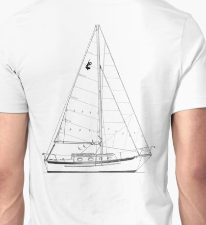 Dana 24 sail plan T shirt (printed on BACK) Unisex T-Shirt