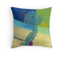 Blue Fusia Throw Pillow