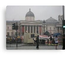UK/London: National Gallery: Street protest -(180511)- digital photo Canvas Print