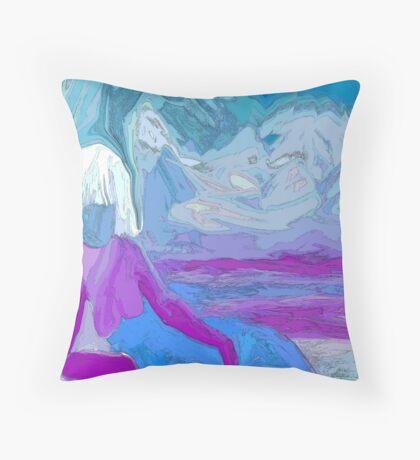 The Ice Princess Throw Pillow