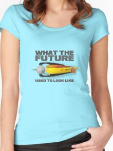 what the future used to look like Women's Fitted Scoop T-Shirt
