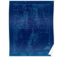 USGS Topo Map Nevada Disaster 321655 1893 250000 Inverted Poster