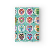 funny colorful owls Hardcover Journal
