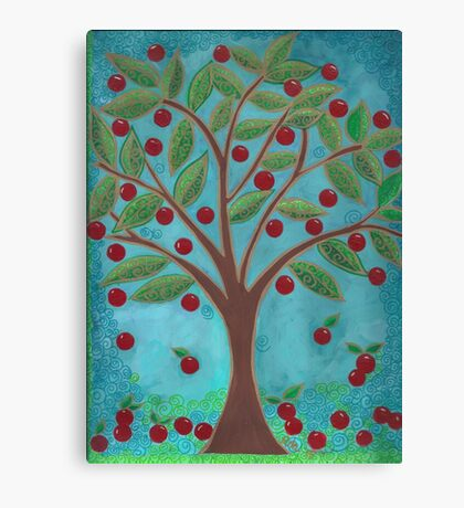 Juicy Red Fruit Tree Canvas Print