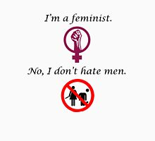For the feminists who don't hate men Womens Fitted T-Shirt