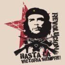 Hasta La Victoria Siempre! - Che Guevara T-Shirt by destinysagent